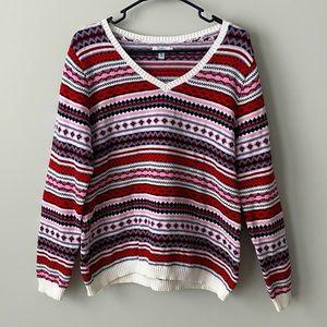 Croft & Barrow V-neck Knit Sweater Size XXL